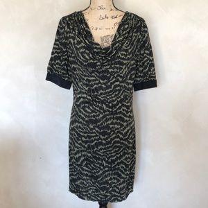 Trina Turk sheath dress with waterfall neckline
